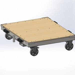 Wózek transportowy rzut z gory 1